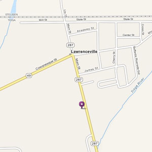 Map of Lawrenceville store