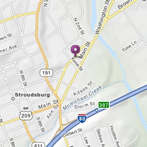 Map of Stroudsburg store